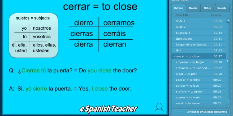 Learn Spanish quickly and