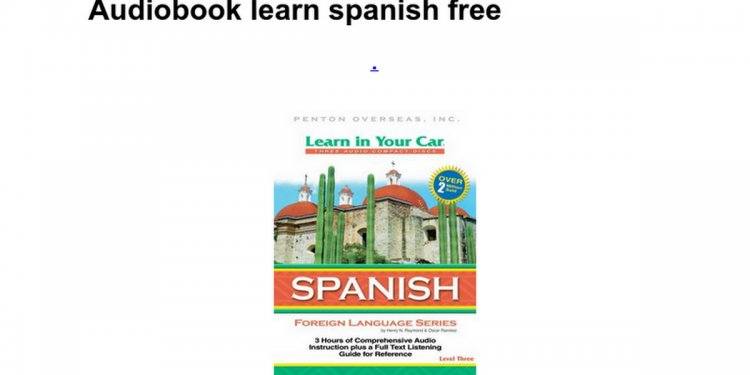 Audiobook learn spanish free