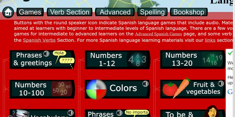 Children s Spanish Games and