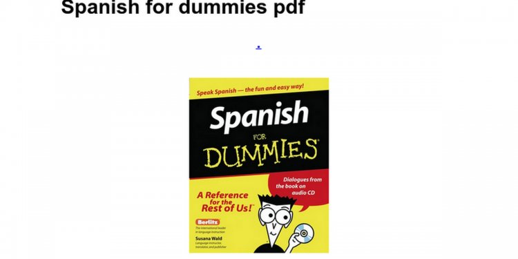 Spanish for dummies pdf
