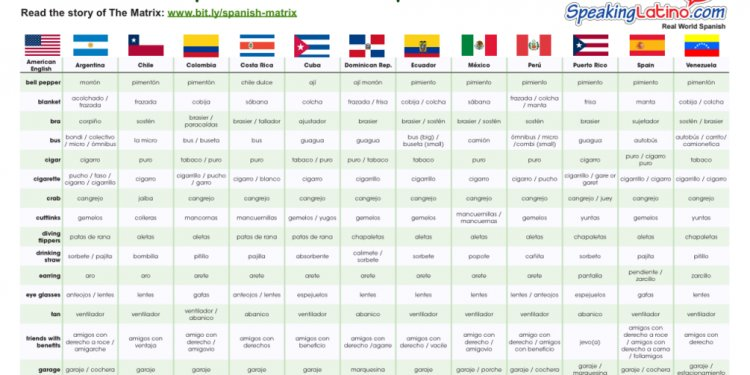 The Matrix: Spanish Words