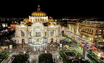 Get cultured at the Mexico City Place of Fine Arts.