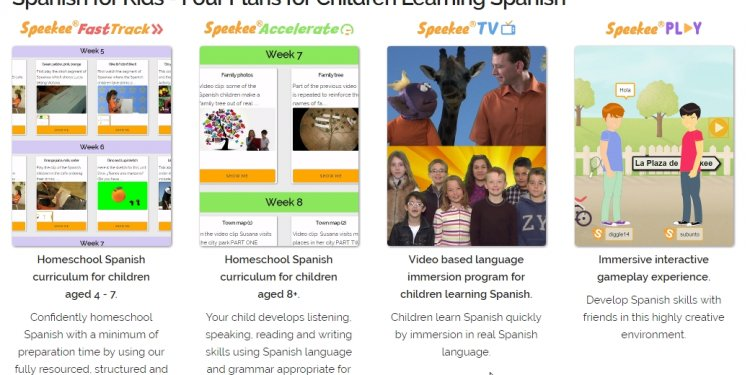 Online Spanish program