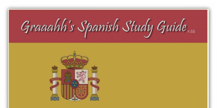Spanish Grammar Study Guide